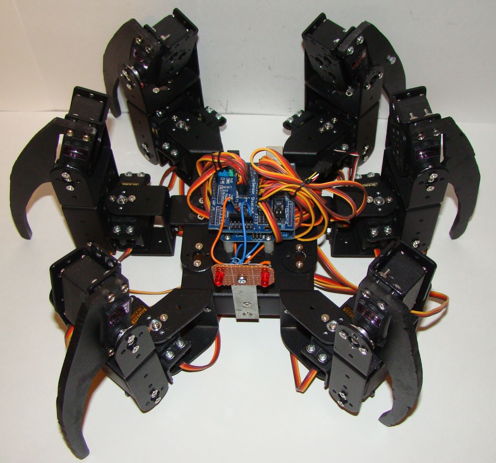 My commentary and technical help arduino powered hexapod