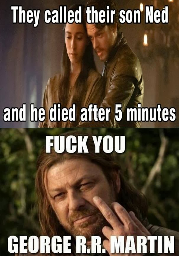 Geaorge Martin Hates Ned Stark