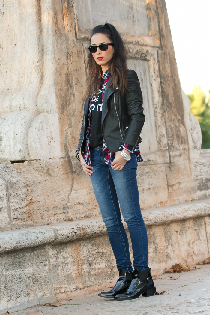 jeans Meltin Pot con botines de charol de Zara