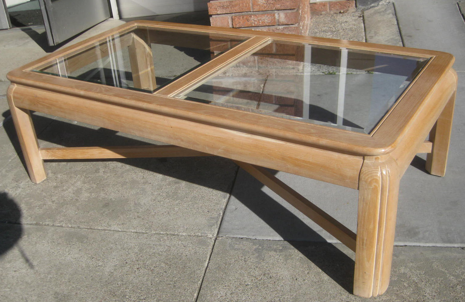 Uhuru furniture collectibles sold whitewash oak coffee table 40 Whitewash coffee table