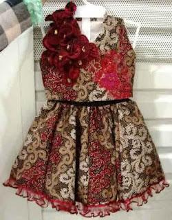 Model Baju Batik Anak Perempuan 1