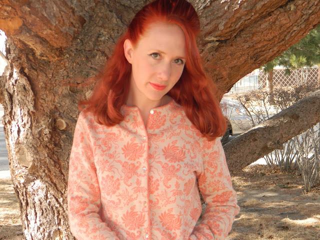 1960s Jantzen knitwear winged liner Just Peachy, Darling