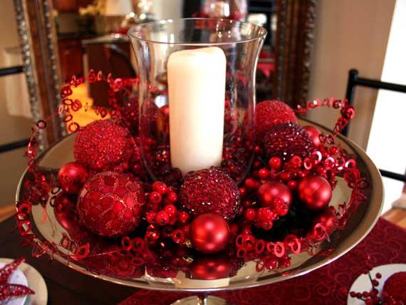 новогодний декор для украшения стола