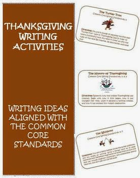 http://www.teacherspayteachers.com/Product/Thanksgiving-Common-Core-Writing-Activity-Cards-399792