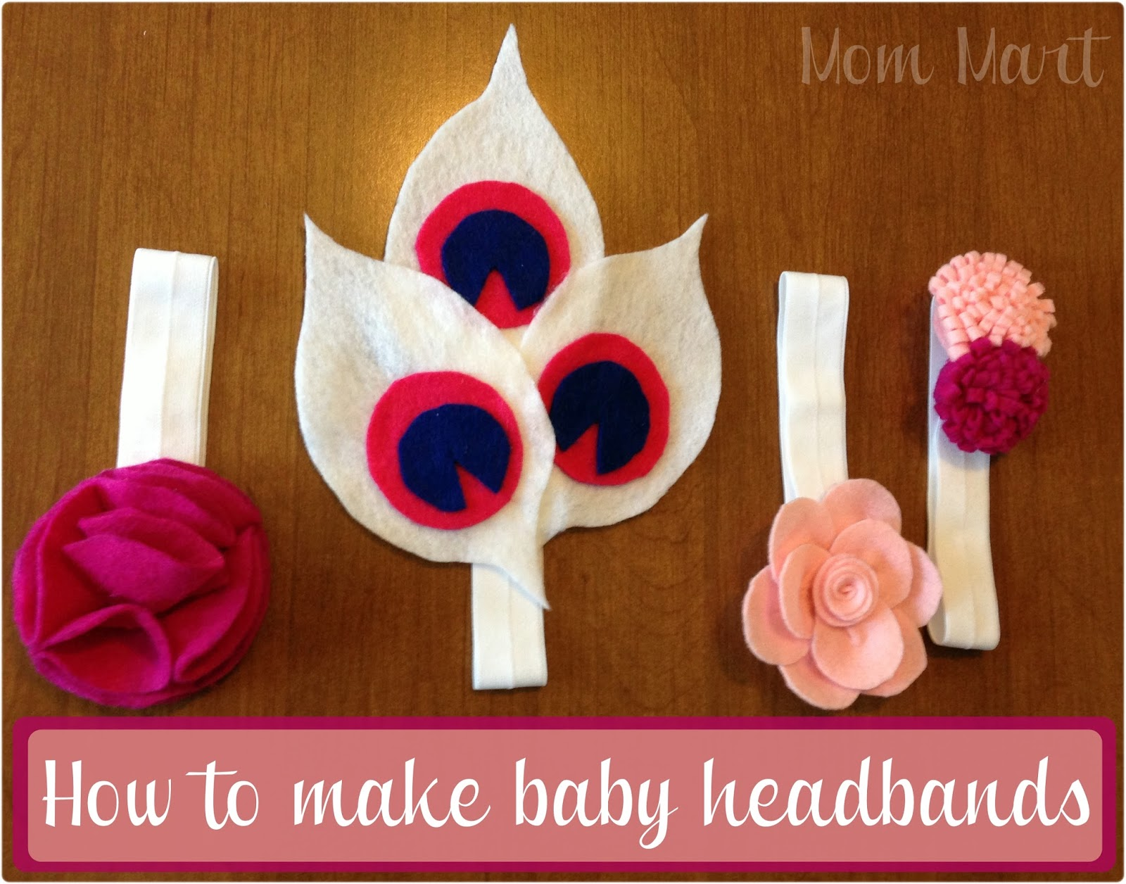 Mom mart diy felt flower baby headbands tutorial how to make felt flower baby headbands solutioingenieria Images