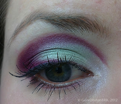 make-up with a purple cut-crease