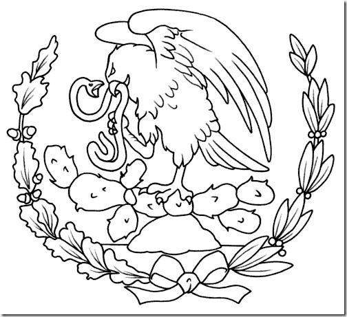 COLOREA TUS DIBUJOS: Dibujo del Aguila Escudo del Pais de Mexico ...