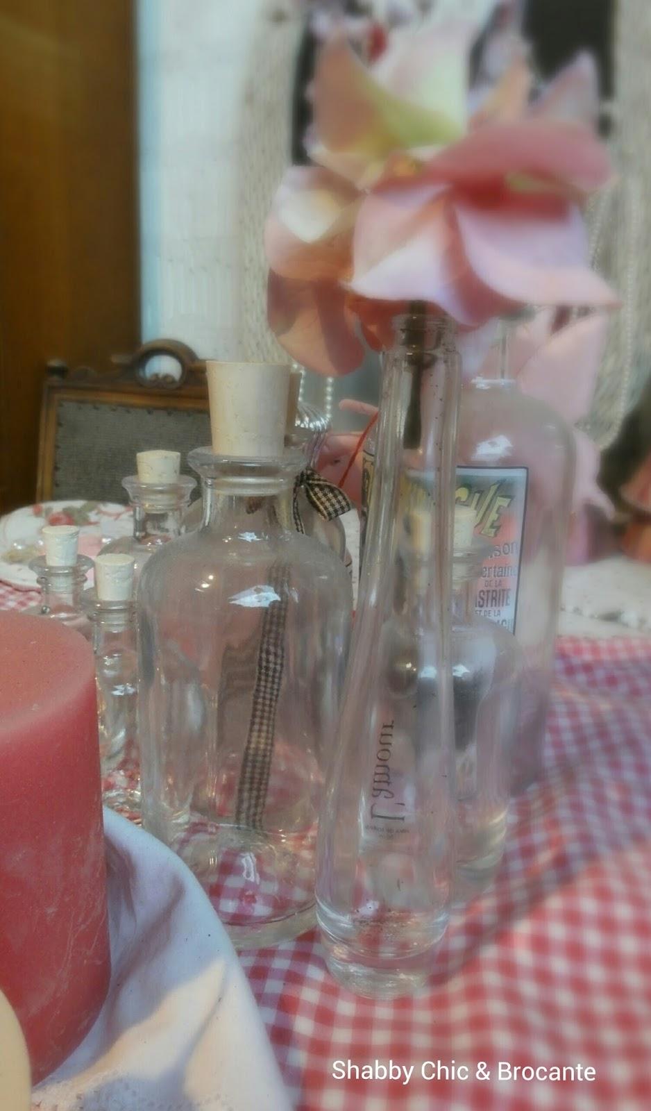 Shabby Chic & Brocante dekorieren mit Flaschen