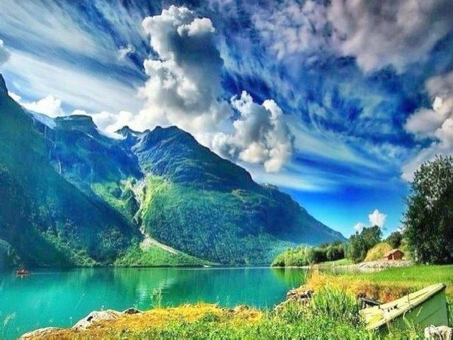 Noruega: Paisagem Tropical quando o gelo derrete.