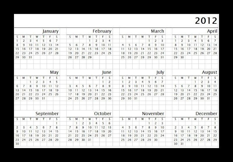 Free Printable Calendar 2017: Printable calendar 2012 download free