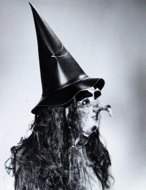 Random Sunday Morning Mask Pic Vintage Witch
