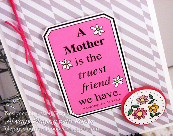 SRM Stickers Blog - Mother's Day Gift Set by Lesley - #card #mother #twine #stickers