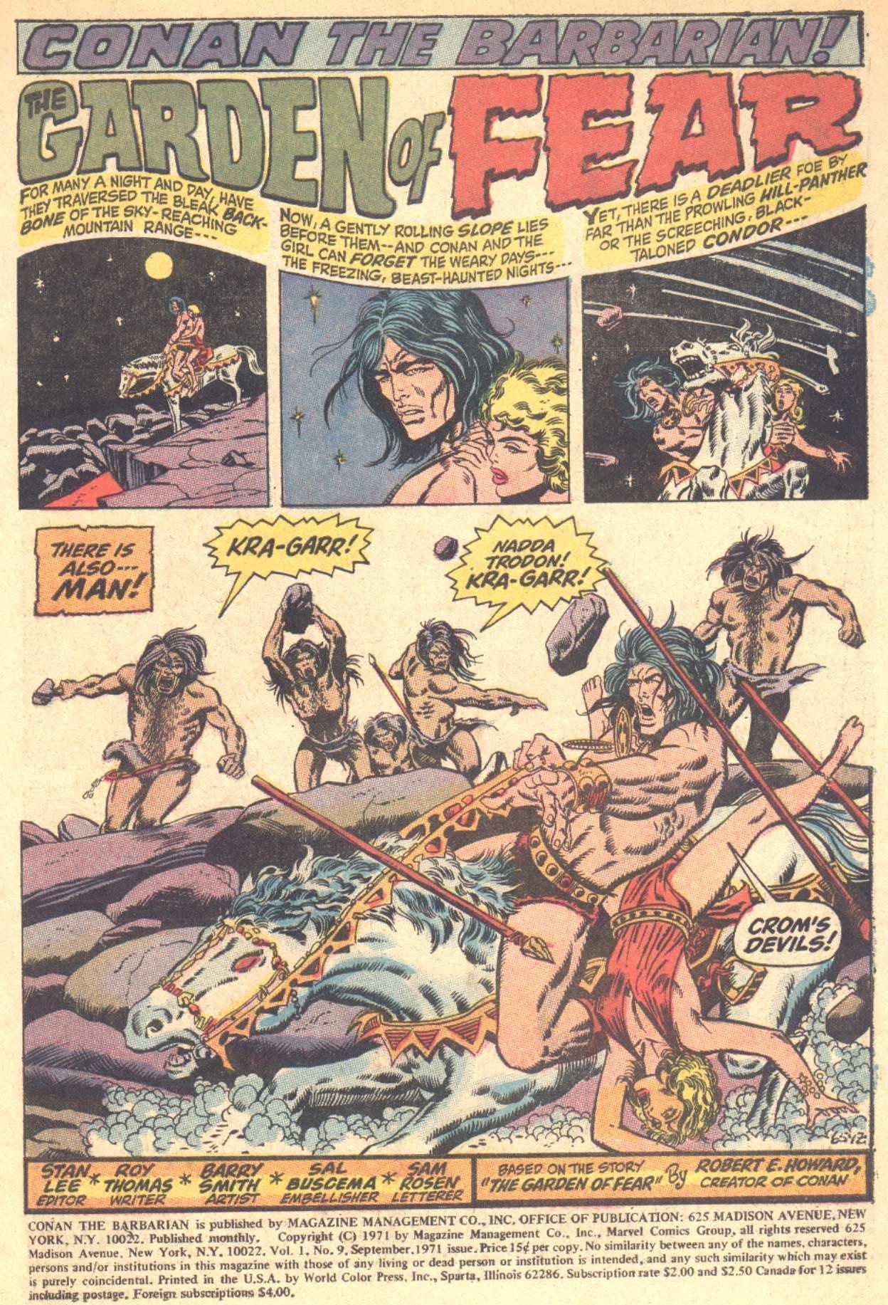 Conan the Barbarian (1970) Issue #9 #21 - English 2