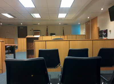 empty, court room