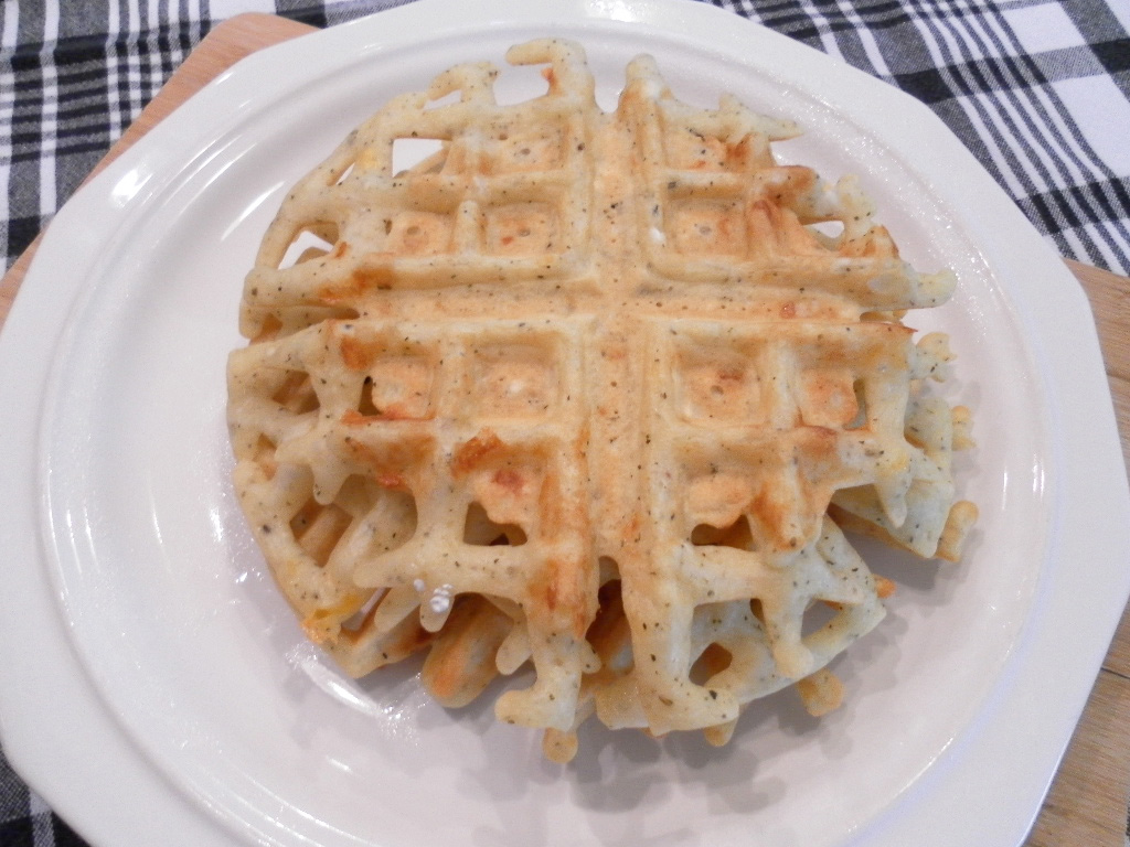 Whisking Through Life: Herb Cheese Waffles