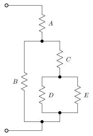 Resistors In  bination on dc resistive circuit diagram