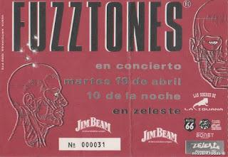 entrada de concierto de fuzztones