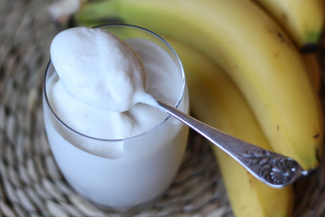 Coconut Milk Banana Smoothie Ice Cream recipe by Barefeet In The Kitchen