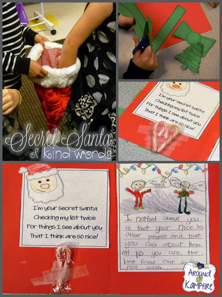 Promote classroom kindness with Secret Santa of Kind Words