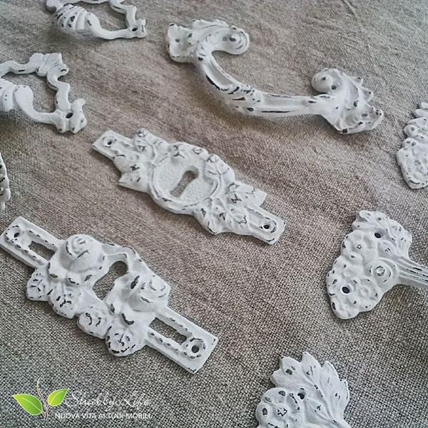 riciclo recupero creativo vecchie maniglie shabby chic