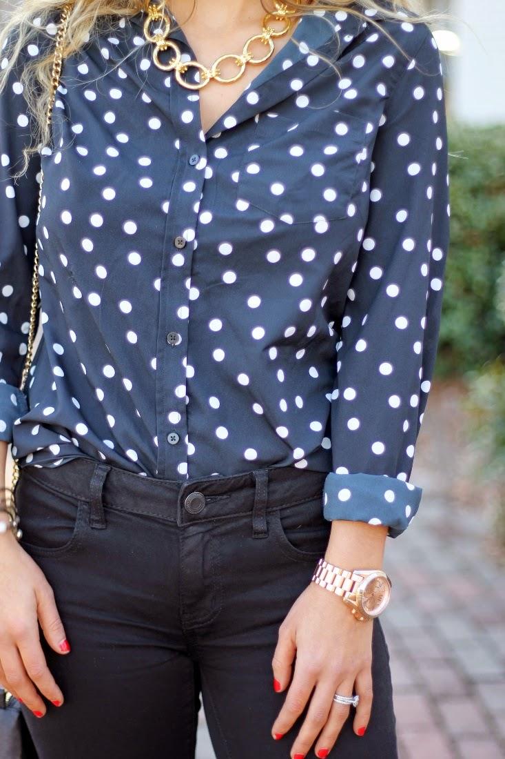 Julie Vos Grande Soho Necklace - Target Polka Dot Print Top