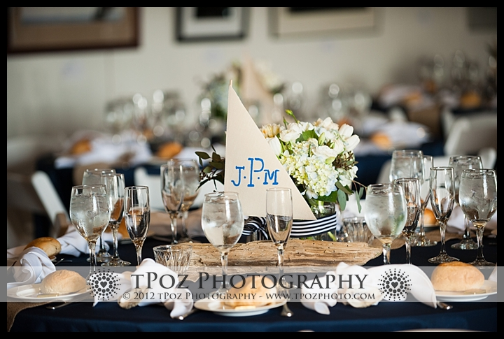 tablescape at an Annapolis Maritime Museum Wedding
