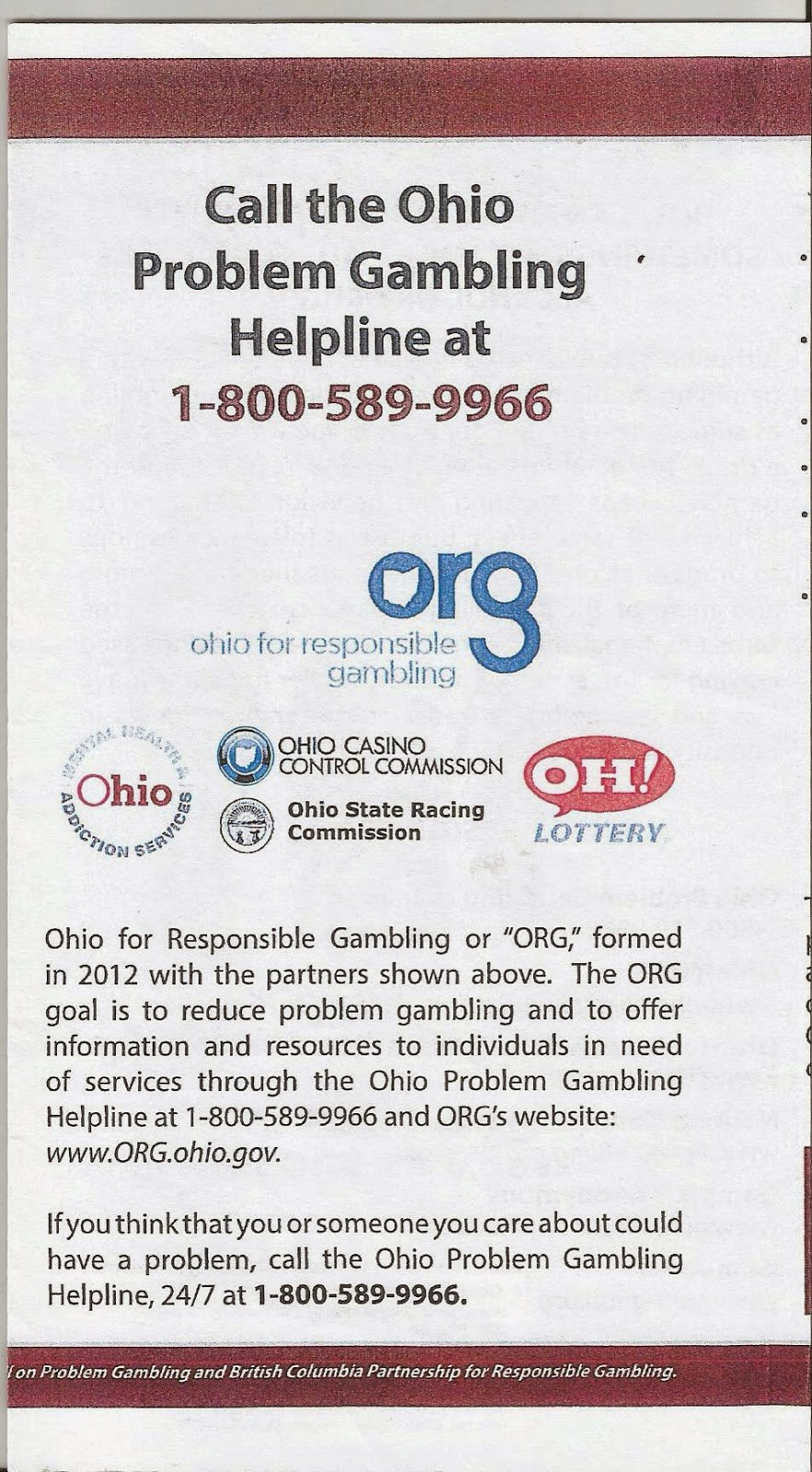 Gambling help ohio casino decoration table theme