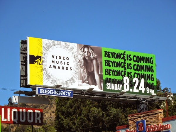 Beyonce is coming MTV Music Video Awards billboard