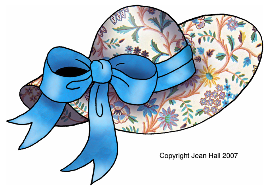 ArtbyJean - Vintage Indian Print: Fashion hats or Easter Bonnets ...