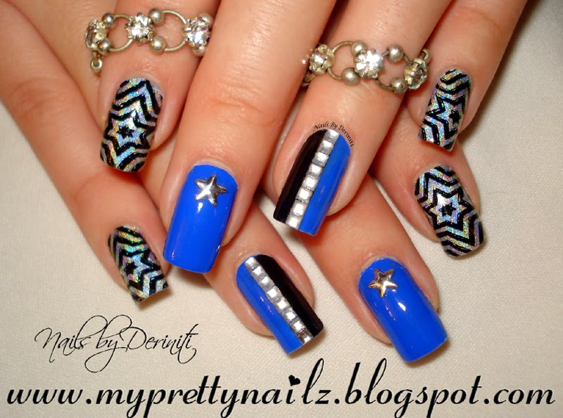 My Pretty Nailz Star Studded New Years Nail Art Design And Video