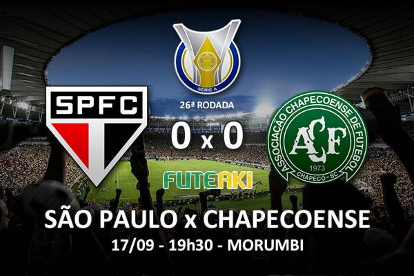 Veja o resumo da partida com os melhores momentos de São Paulo 0x0 Chapecoense pela 26ª rodada do Brasileirão 2015.