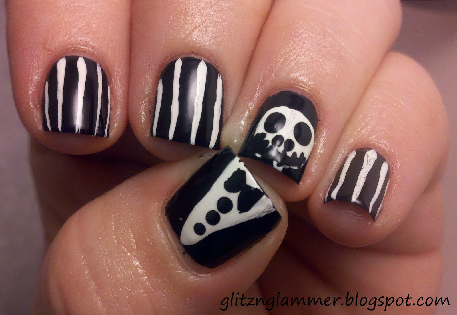 glitznglammer: halloween nail art challenge: halloween character