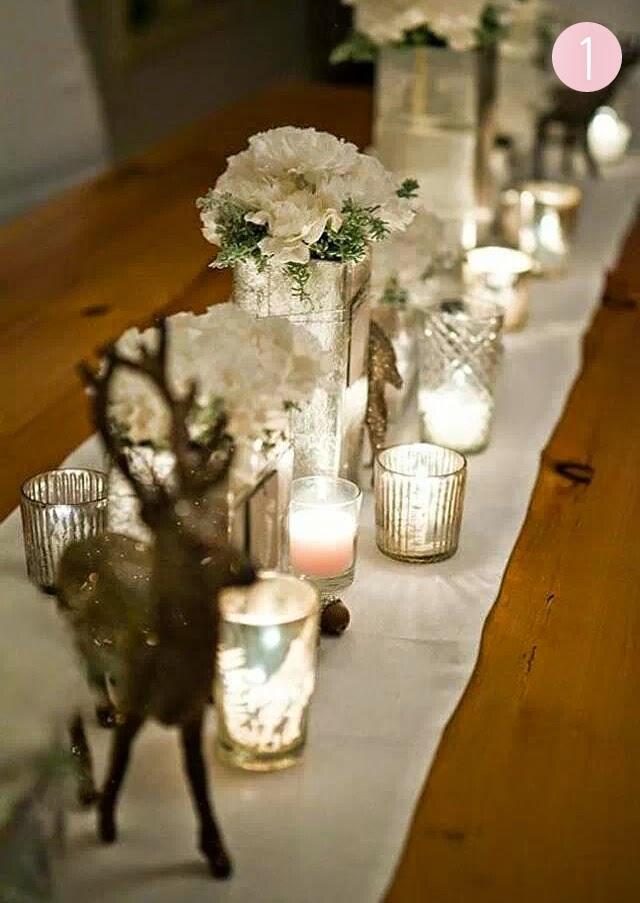 decoración navidad mesa nochebuena nochevieja