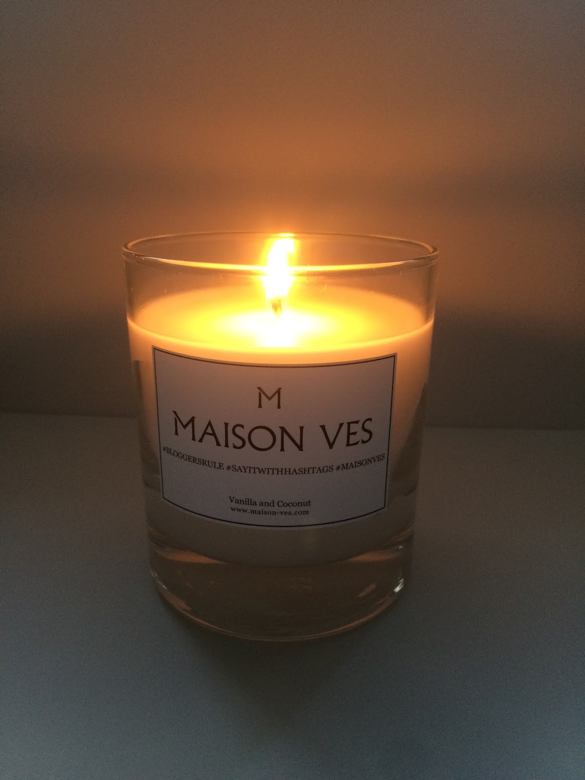 maison ves candle, scented vanilla coconut