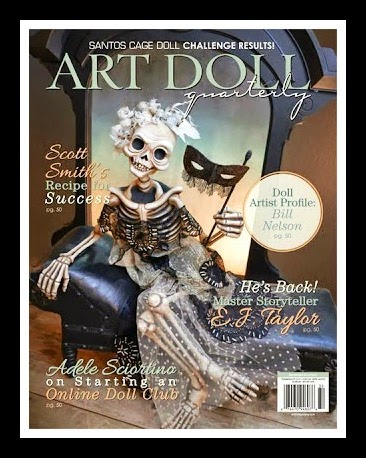Honored to be published in the August issue of Art Doll Quarterly 2013!  See pages 104, 105 and 106