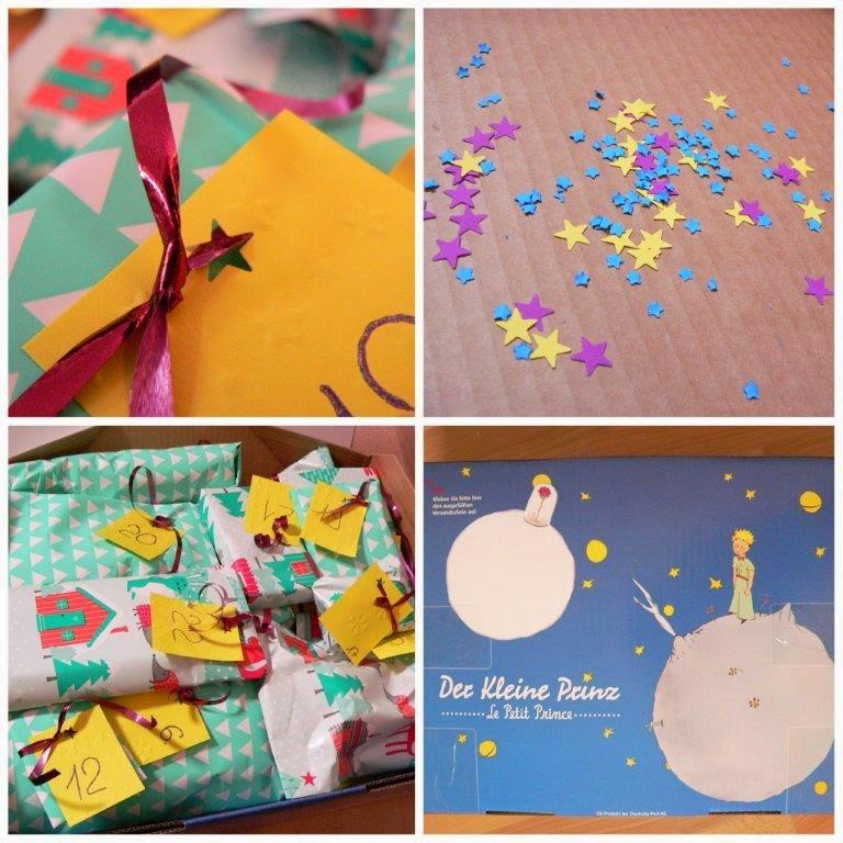 24 Geschenke Sterne Paket Post