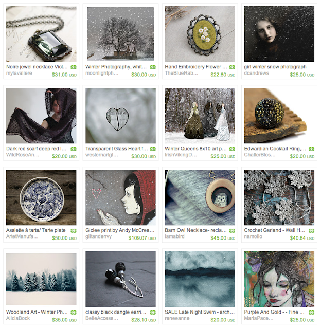 Snow Kissed Gift Guide #snow #winter #vintage #handmade #art #jewelry
