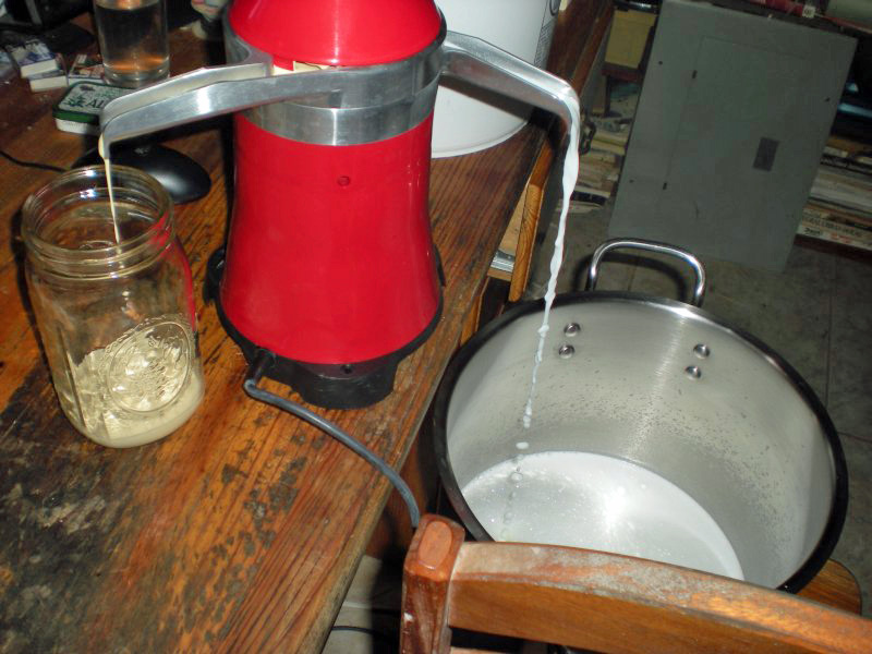 how to make a cream separator for goat milk
