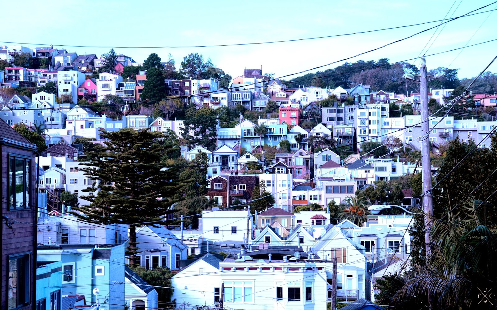 Eureka Valley - Vues sur San Francisco, Californie, USA