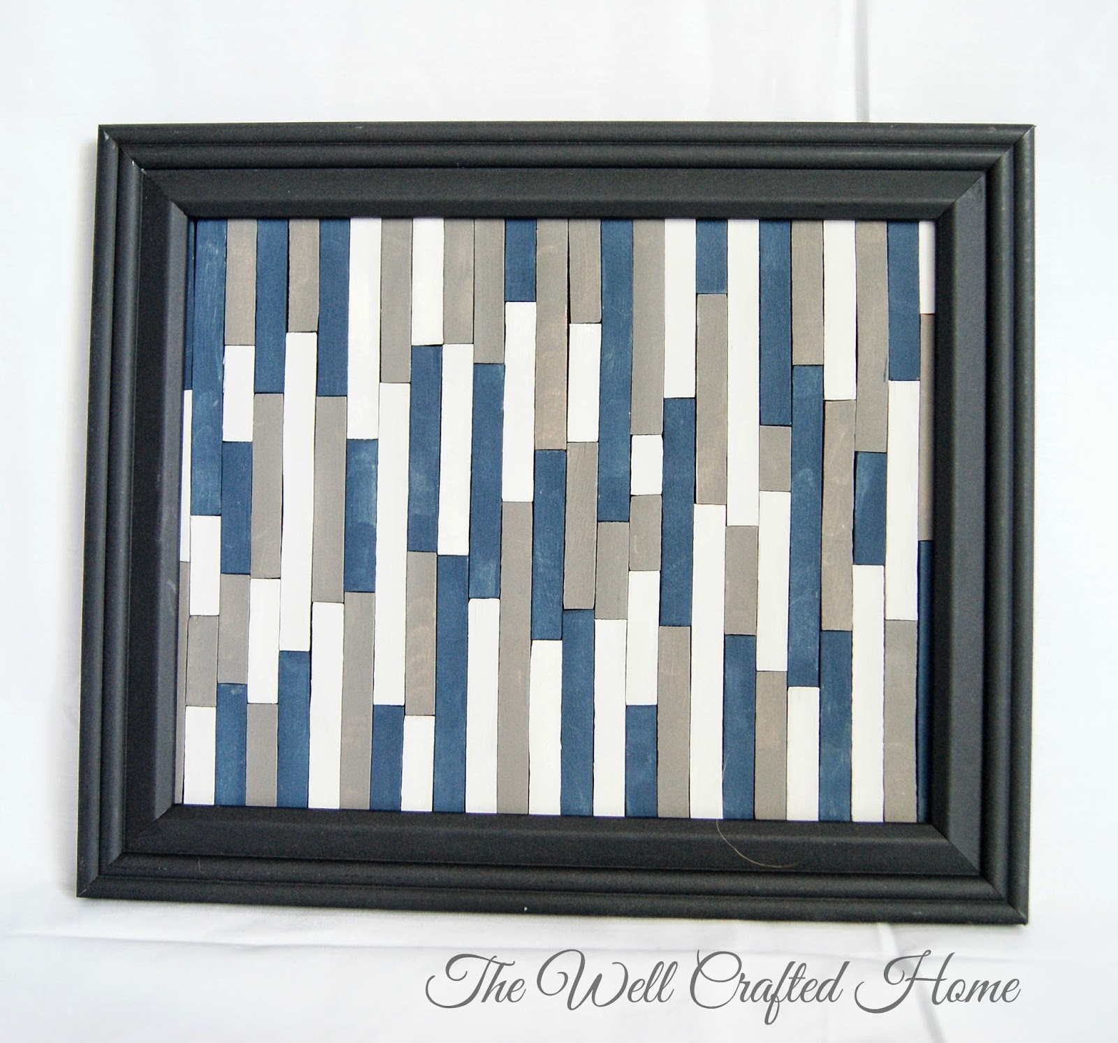 The well crafted home made by me mondays 5 popsicle stick art i chose to leave the glass our of the frame it looked good both ways though here is the finished product jeuxipadfo Gallery