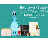 Amazon: Buy Luxury Beauty products Free Amazon Rs.500 Gift Voucher on Rs.2000