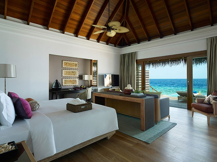 Bedroom in Luxury Dusit Thani Resort in Maldives