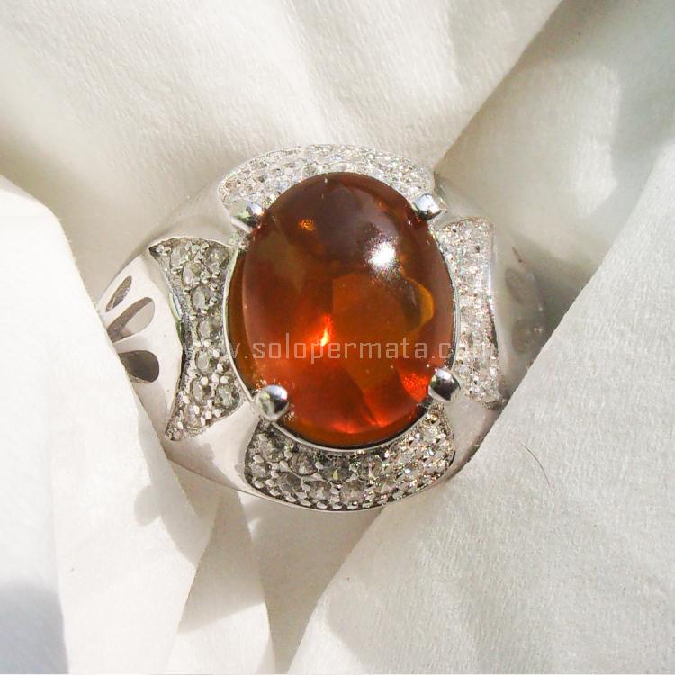 Cincin Batu Permata Fire Opal - SP695