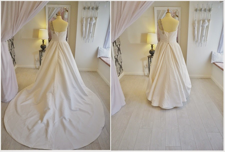 different wedding dress bustle styles
