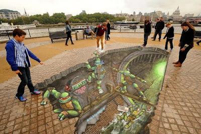 Foto de Graffitti en 3D Tortugas Ninja