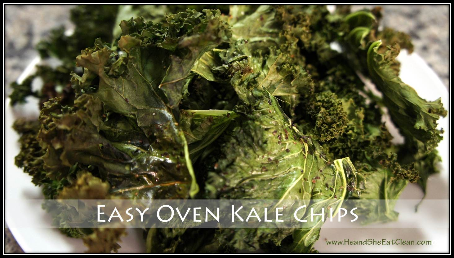 Clean Eat Recipe :: Easy Oven Kale Chips ~ He and She Eat Clean