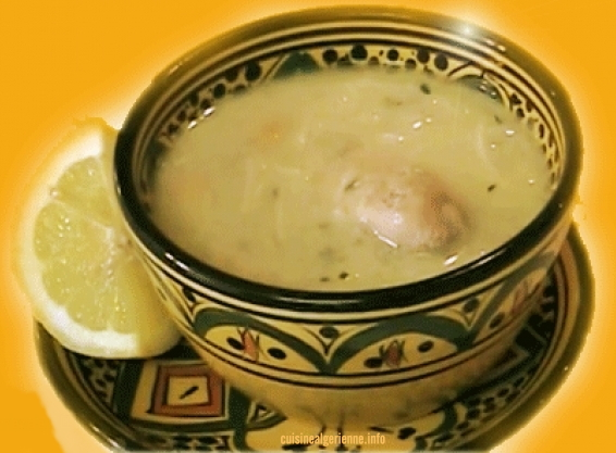 Chorba bayda soupe blanche alg rienne cuisine algerienne - Recette de cuisine algerienne moderne ...