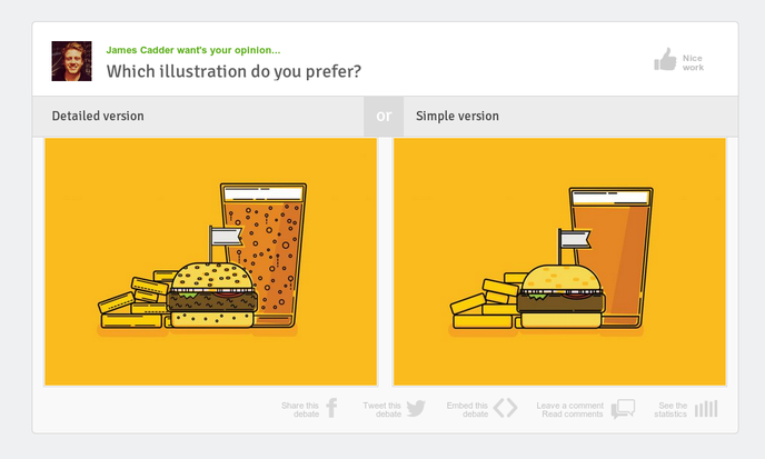Desinion plataforma para designers indecisos mkt news bastando arrastar duas imagens sobre os quadros e opcionalmente escolher at trs categorias para classificar o tipo de design que est ccuart Gallery