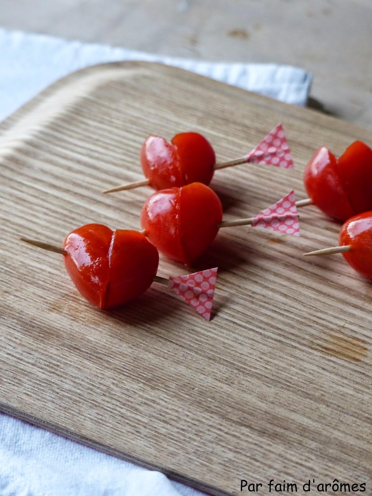 Cœur de tomates cerises {Valentine's Day}