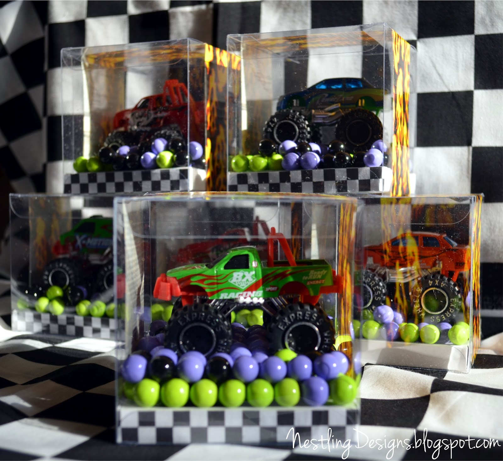 Party Jelly Ideas: Nestling: Monster Truck Party :: Reveal